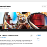 Screenshot of the twentyeleven theme