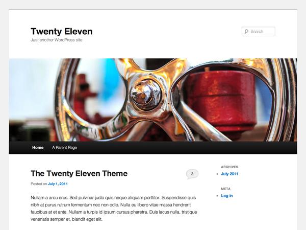 Screenshot of the twentyeleven theme