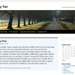 Screenshot of the twentyten theme