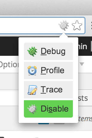 By default, disabled is selected.  We want to select Profile.