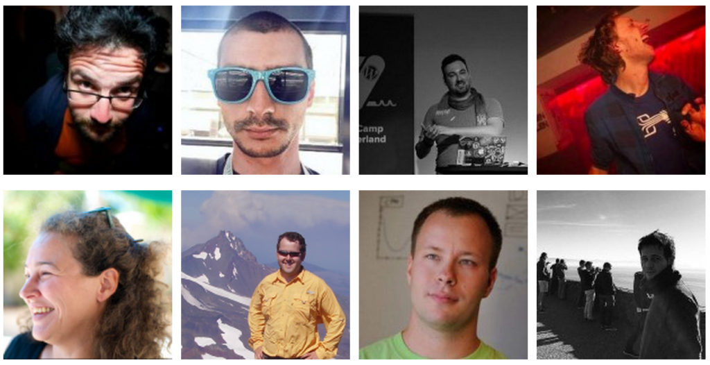 Avatars of the eight WordCamp Europe Speakers Announced today