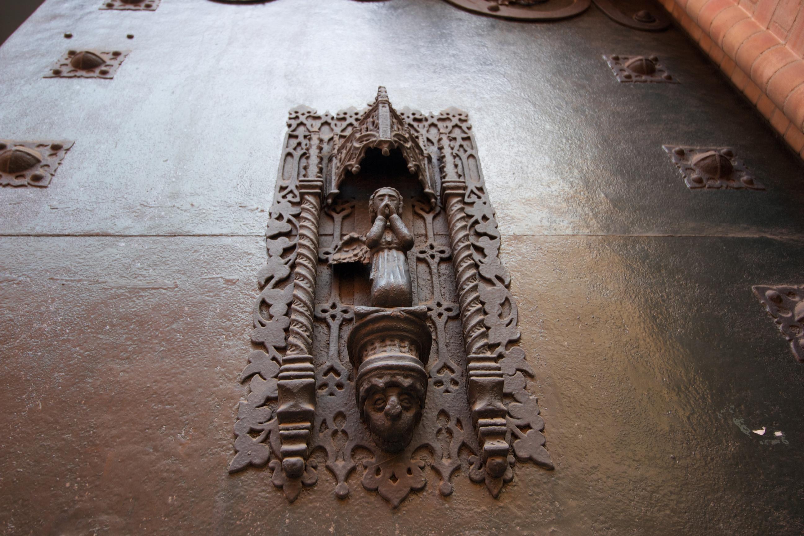 Carvings in a door