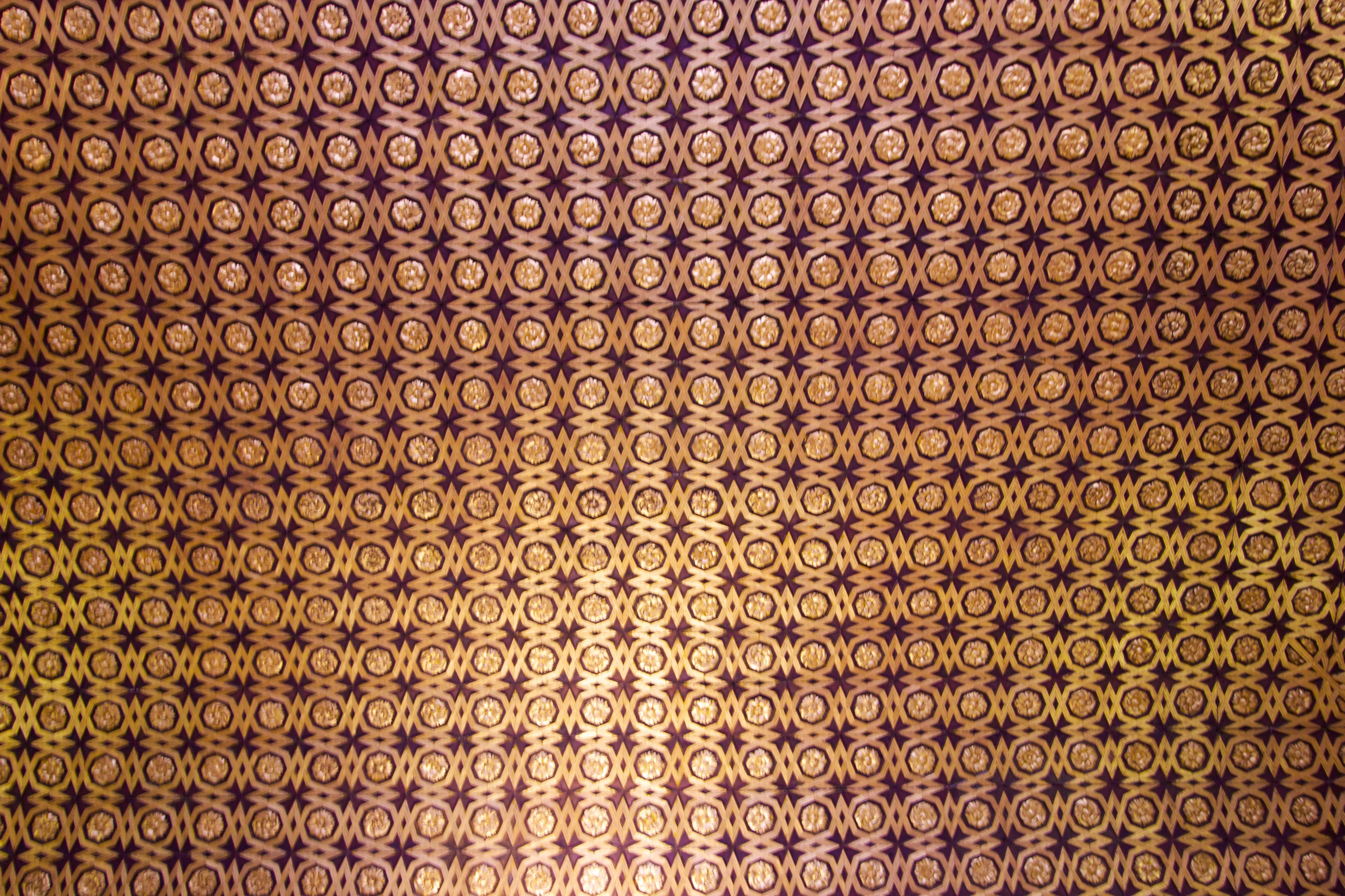 Intricate pattern on a cieling