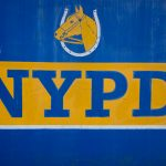 Horse Head in a horseshoe with NYPD underneath