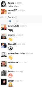 Screenshot of WordPress Dev Chat